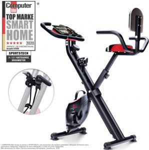 Sportstech Bicicleta estática Plegable F-Bike X100